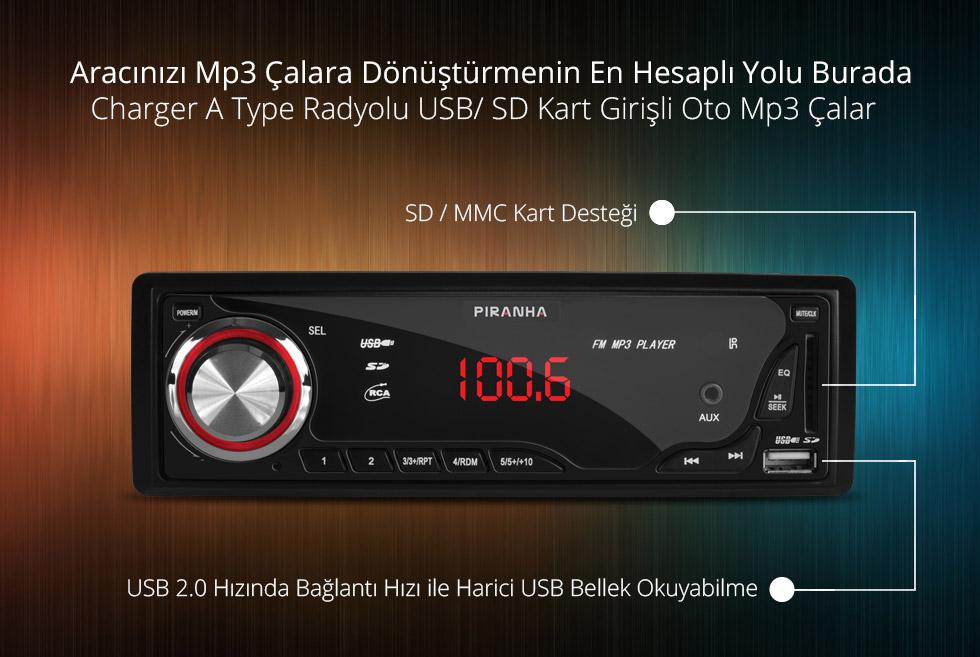 Charger A Type- Aracınızı Mp3 Çalara Dönüştürmenin En Hesaplı Yolu