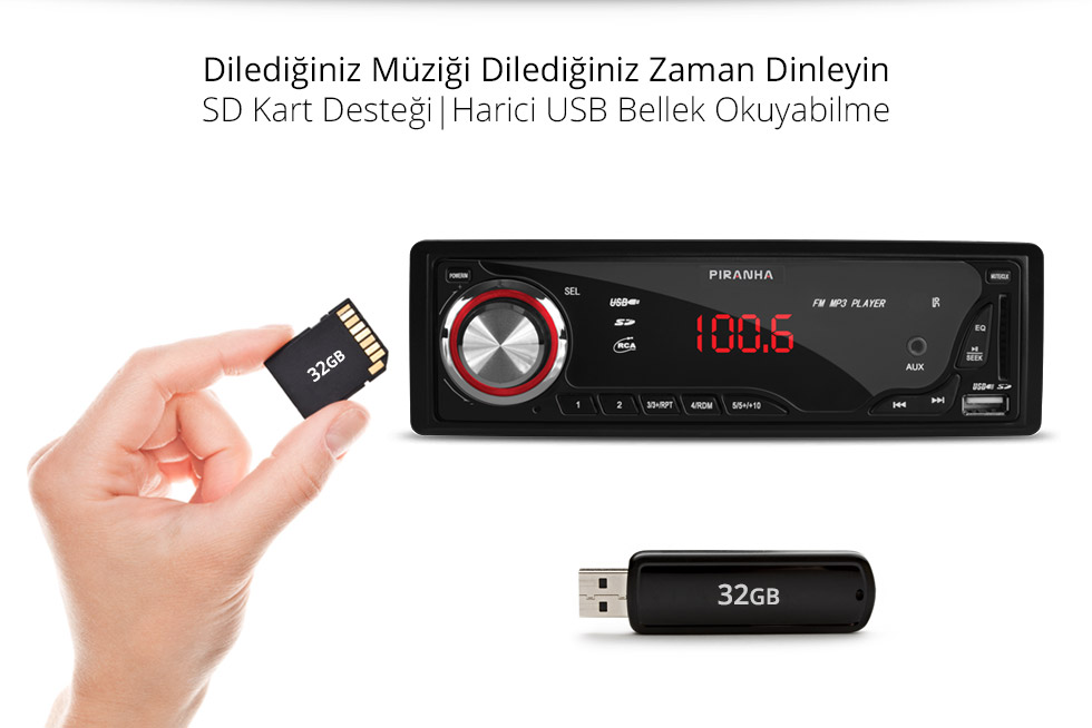 Charger-A-Type-SD Kart ve Usb Desteği