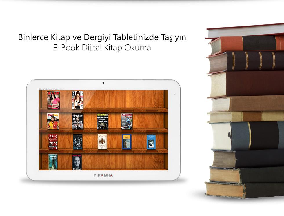 Ultra Tab 10.1 Zeus White-Binlerce Kitap ve Dergiyi Tabletinizde Taşıyın