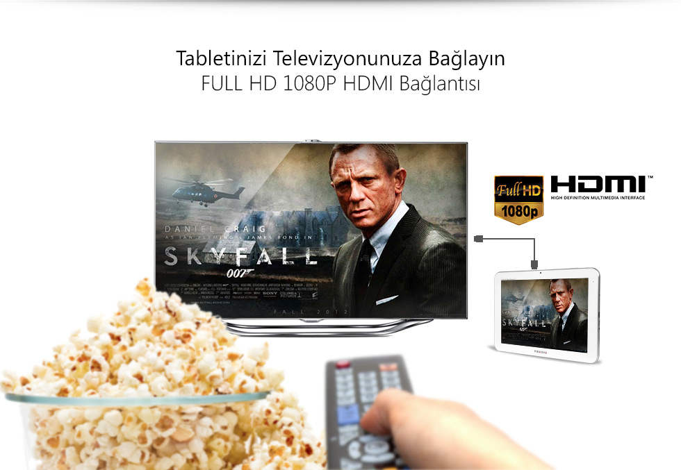 Ultra Tab 10.1 Zeus White-Tabletinizi Televizyonunuza Bağlayın