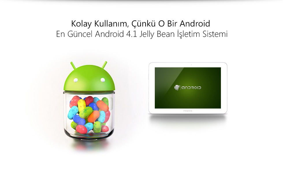 Ultra Tab 10.1 Zeus White-Kolay kullanım, Çünkü O Bir Android