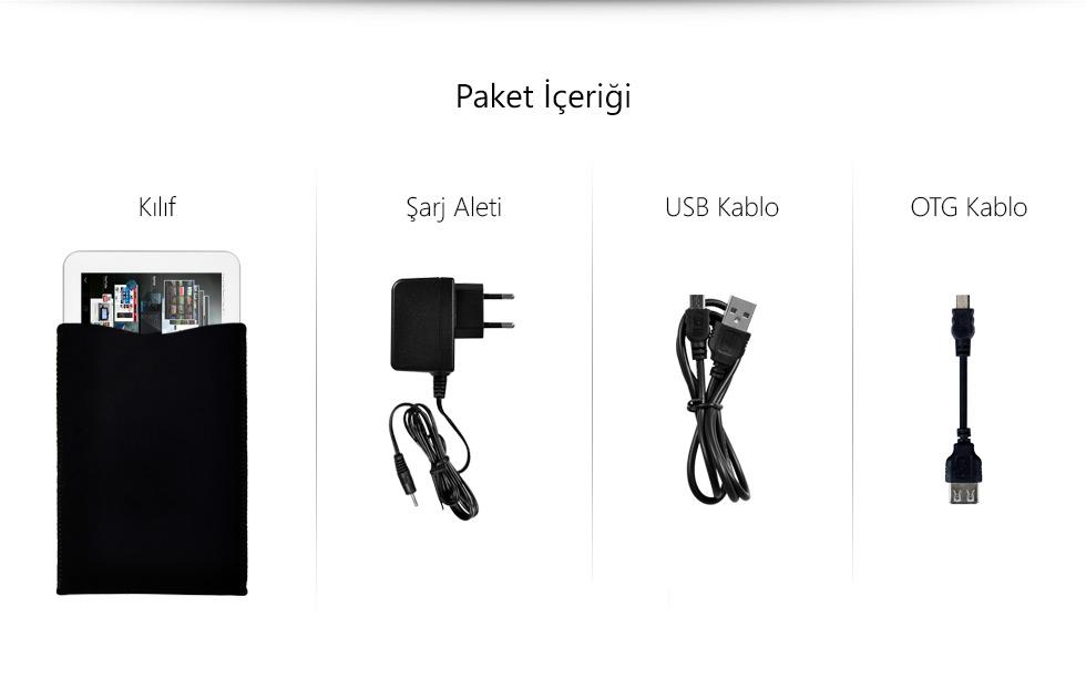 Ultra Tab 10.1 Zeus White-Paket İçeriği