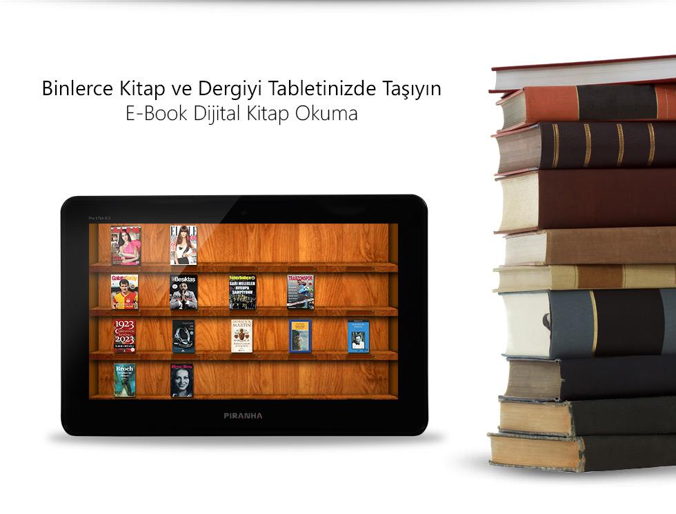 Pro II Tab 9.0-Binlerce Kitap ve Dergiyi Tabletinizde Taşıyın