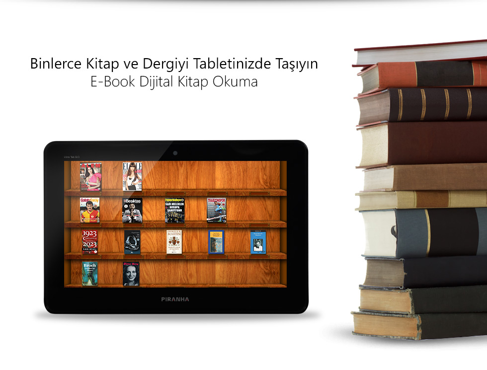 Ultra Tab 9.0-Binlerce Kitap ve Dergiyi Tabletinizde Taşıyın