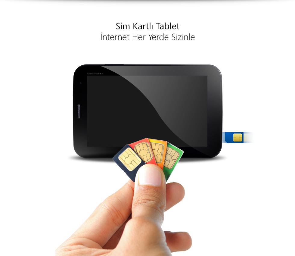 Aristo II Tab 7.0-Sim Kartlı 3G Tablet