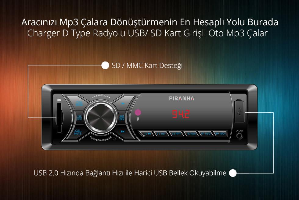 Charger D Type- Aracınızı Mp3 Çalara Dönüştürmenin En Hesaplı Yolu