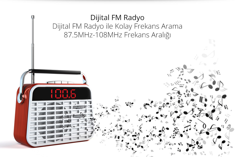 Charger D Type-Dijital Fm Radyo