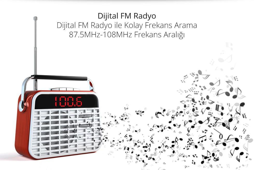 Charger T Type-Dijital FM Radyo
