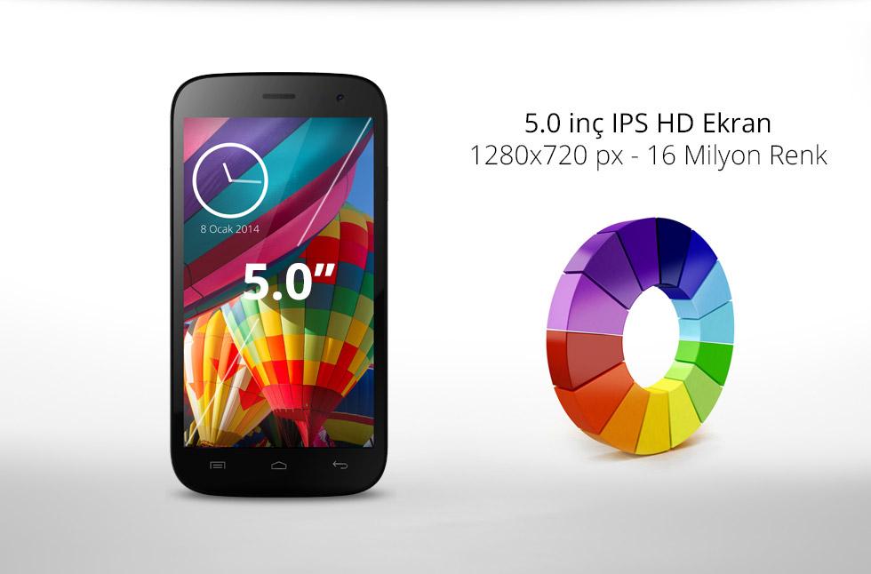 Zen-5.0 inç IPS HD Ekran