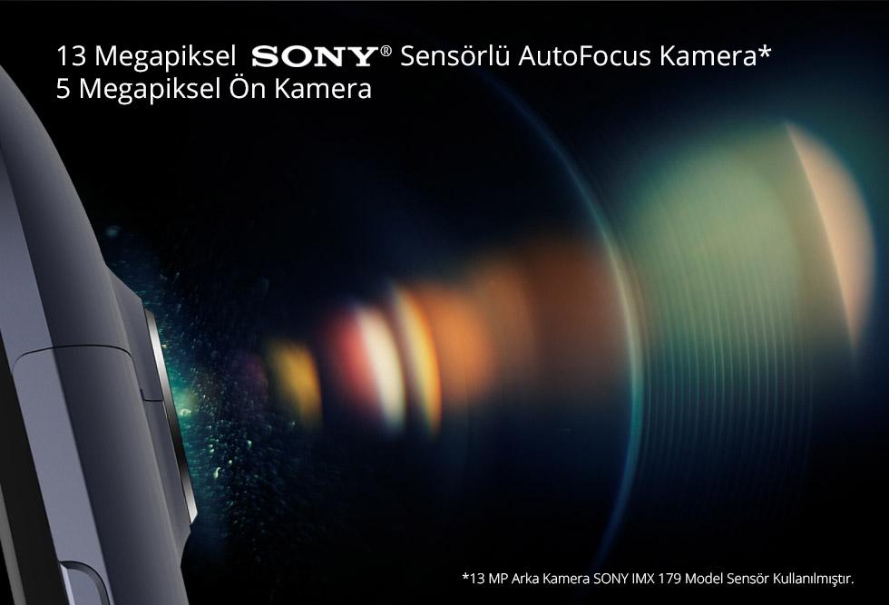 Zen-13 Megapiksel Sony Sensörlü Autofocus Kamera* 5 Megapiksel Ön Kamera