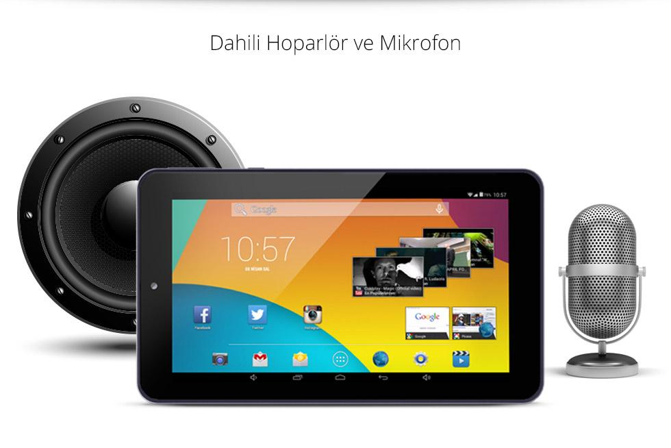 Premium Tab 7.0-Dahili Hoparlör ve Mikrofon
