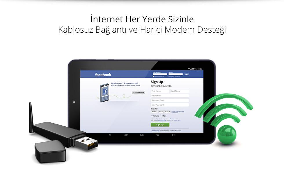 Premium Tab 7.0-Wifi ve Harici 3G Modem Destegi