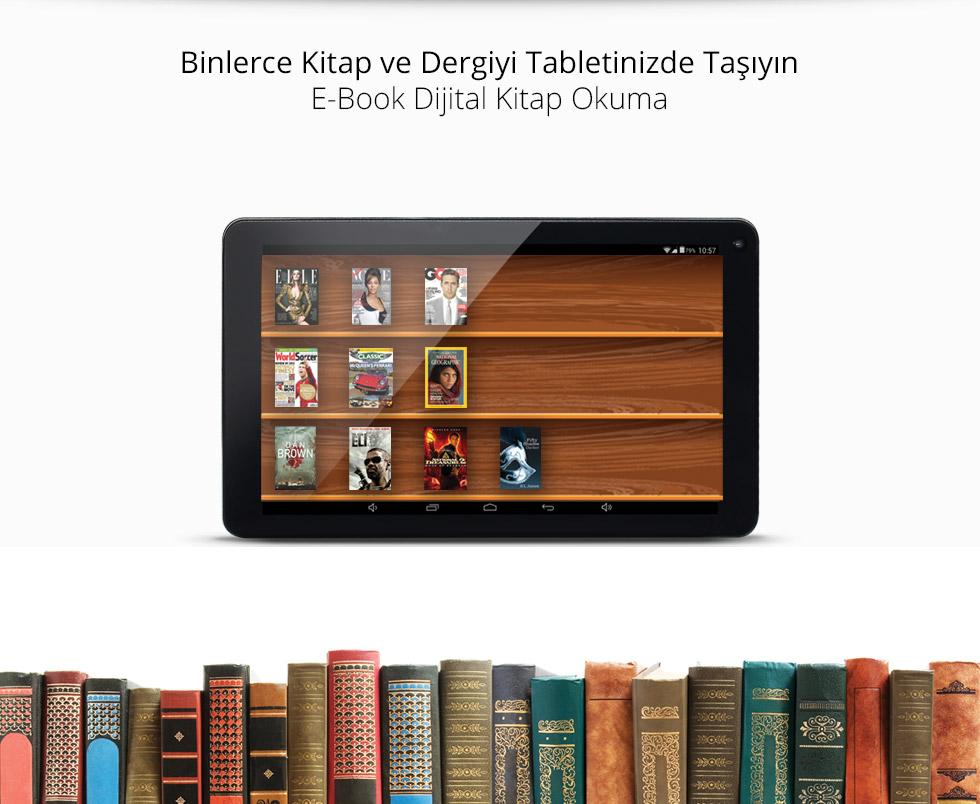 Empire Tab 9.0 Black-Binlerce Kitap ve Dergiyi Tabletinizde Taşıyın
