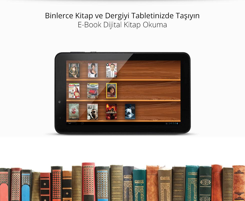 Aristo Q Tab 7.0-Binlerce Kitap ve Dergiyi Tabletinizde Taşıyın